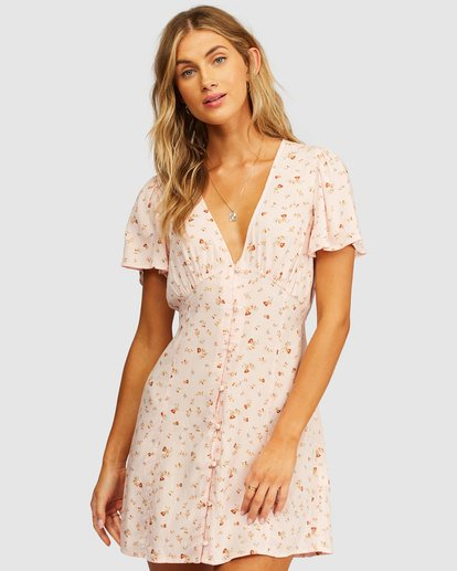 0 Full Swing Mini Dress Pink 6513495 Billabong