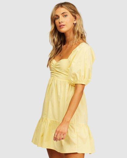 1 Be Mine Babydoll Dress Yellow 6513497 Billabong