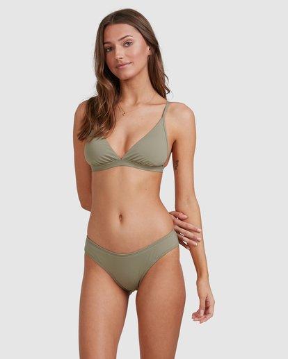 3 Sol Searcher Hi Point Tri Bikini Top Grey 6513701 Billabong