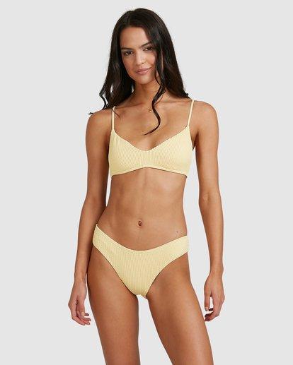 2 Summer High V Bralette Bikini Top Yellow 6513718 Billabong