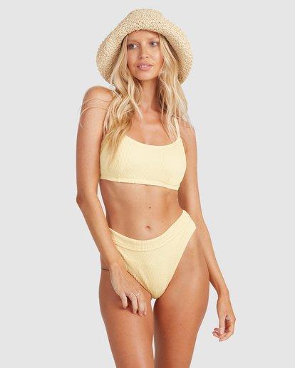 2 Summer High Mia D/DD Bralette Bikini Top Yellow 6513719 Billabong