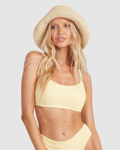 1 Summer High Mia D/DD Bralette Bikini Top Yellow 6513719 Billabong