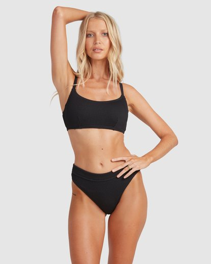 2 Summer High Mia D/DD Bralette Bikini Top Black 6513719 Billabong