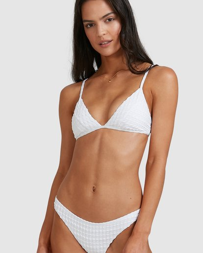 2 Wave Check Tropic Bikini Bottoms White 6513745 Billabong