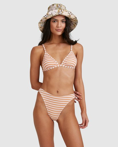 2 Coastline Stripe Ivy Tri Bikini Top Yellow 6513769 Billabong
