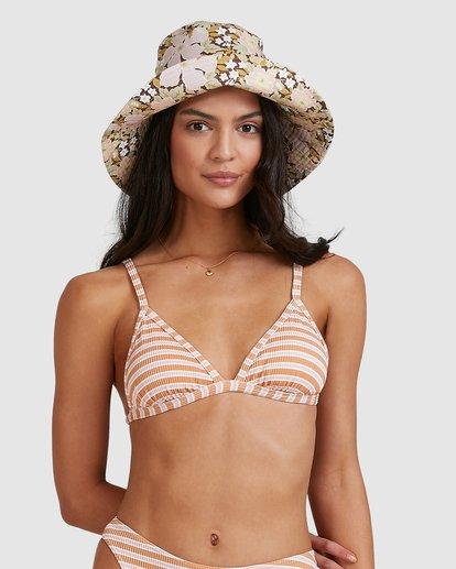 1 Coastline Stripe Ivy Tri Bikini Top Yellow 6513769 Billabong
