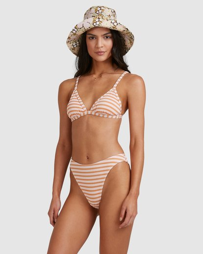 3 Coastline Stripe Ivy Tri Bikini Top Yellow 6513769 Billabong