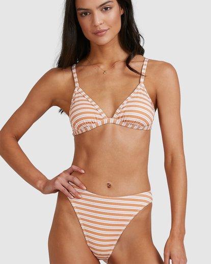 5 Coastline Stripe Havana Bikini Bottoms Yellow 6513770 Billabong