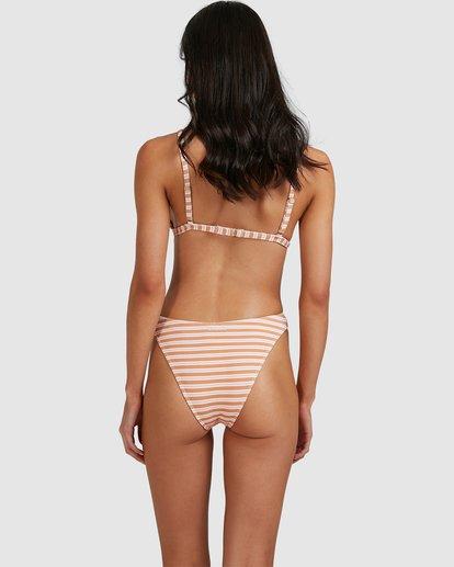 2 Coastline Stripe Havana Bikini Bottoms Yellow 6513770 Billabong