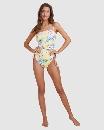 7 Tropicool Naomi Bandeau One Piece Yellow 6513792 Billabong