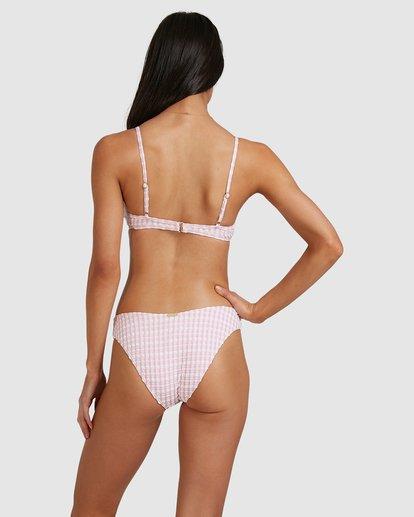 5 Wave Check Charlie Trilette Bikini Top Pink 6513797 Billabong