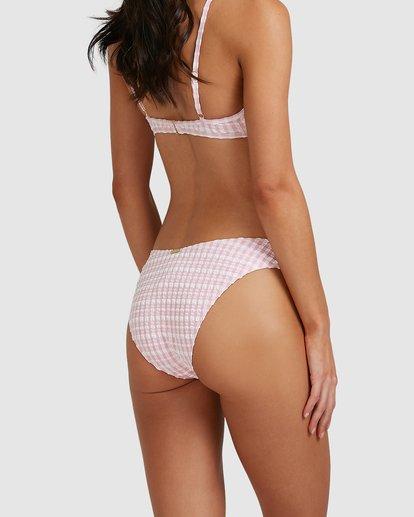 3 Wave Check Bondi Bikini Bottoms Pink 6513799 Billabong