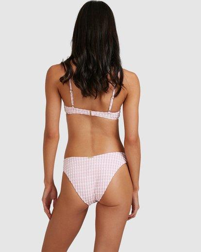 1 Wave Check Bondi Bikini Bottoms Pink 6513799 Billabong
