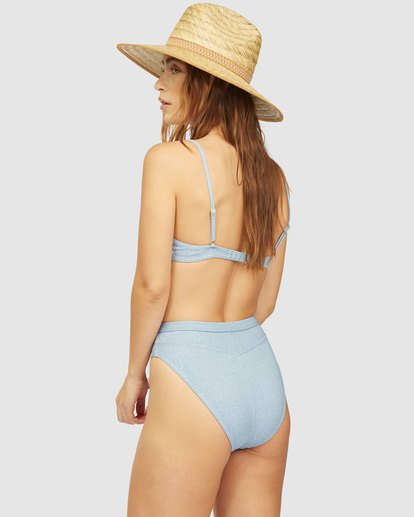 2 Wrangler Down With Denim Underwire Bikini Top Beige 6513815 Billabong