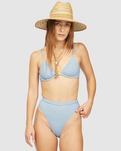 0 Wrangler Down With Denim Underwire Bikini Top Beige 6513815 Billabong