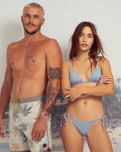 0 Wrangler Down With Denim Tie Side Isla Bikini Bottom Beige 6513816 Billabong