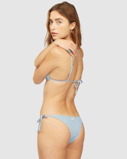 1 Wrangler Down With Denim Tie Side Isla Bikini Bottom Beige 6513816 Billabong
