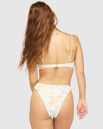 2 Wrangler Western Shore Notched Bralette Bikini Top White 6513843 Billabong