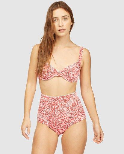 1 Wrangler Lil Sweet One Hanky Tie Underwire Bikini Top Red 6513849 Billabong