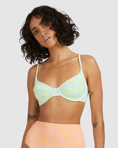 2 Hot Tropics Nova DD Bikini Top Blue 6513908 Billabong