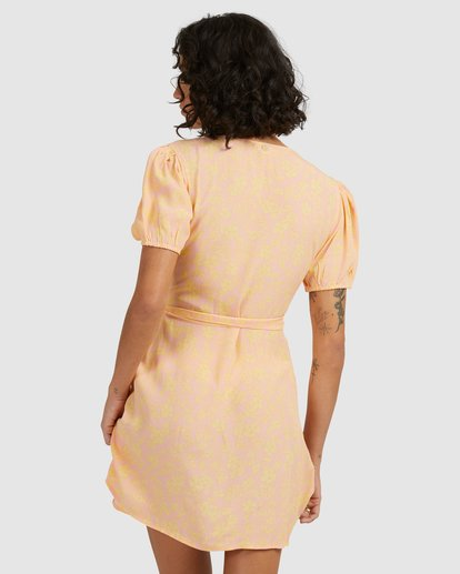 4 Hot Tropics Wrap Dress Orange 6513917 Billabong