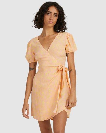 1 Hot Tropics Wrap Dress Orange 6513917 Billabong