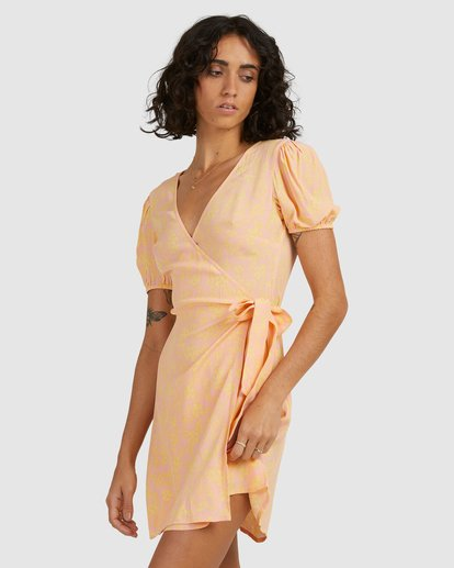 3 Hot Tropics Wrap Dress Orange 6513917 Billabong