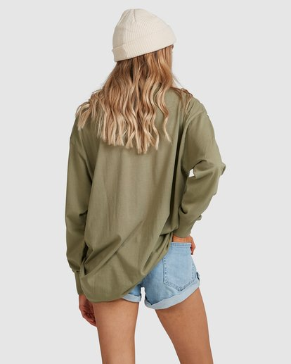 3 Sun Chasers Long Sleeve Tee Green 6517072 Billabong