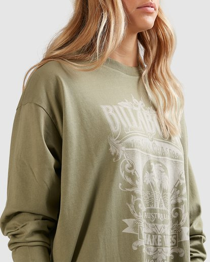 4 Sun Chasers Long Sleeve Tee Green 6517072 Billabong