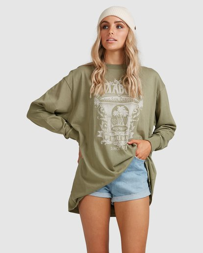 1 Sun Chasers Long Sleeve Tee Green 6517072 Billabong
