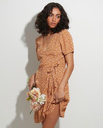 0 Ma Bonita Wrap Dress Yellow 6517461 Billabong