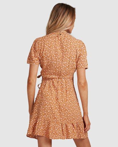 4 Ma Bonita Wrap Dress Yellow 6517461 Billabong