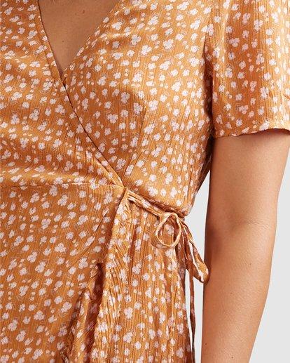 5 Ma Bonita Wrap Dress Yellow 6517461 Billabong