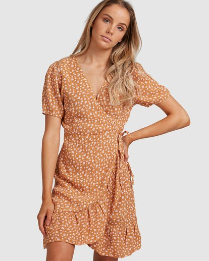 1 Ma Bonita Wrap Dress Yellow 6517461 Billabong