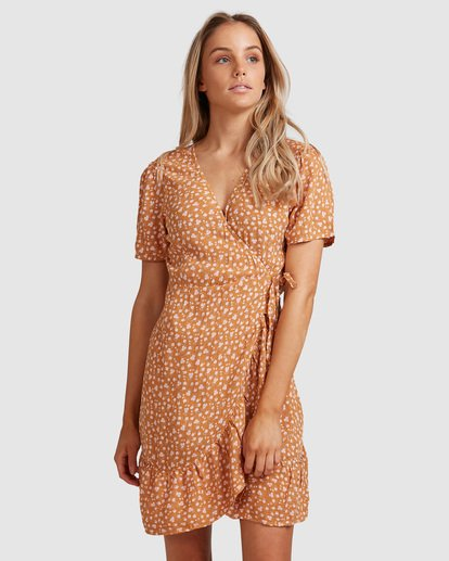 2 Ma Bonita Wrap Dress Yellow 6517461 Billabong