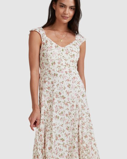 5 Songbird Midi Dress White 6517462 Billabong