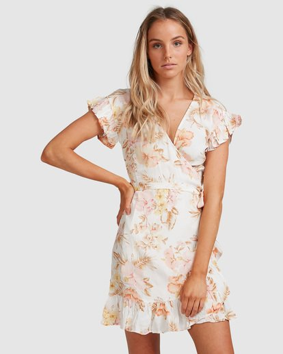 2 Shallows Wrap Dress White 6517463 Billabong