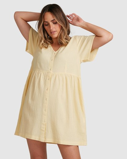 1 Daisy Dress Yellow 6517468 Billabong