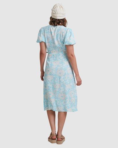 5 Blue Ray Midi Wrap Dress Blue 6517472 Billabong