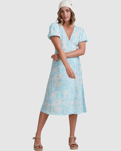 2 Blue Ray Midi Wrap Dress Blue 6517472 Billabong