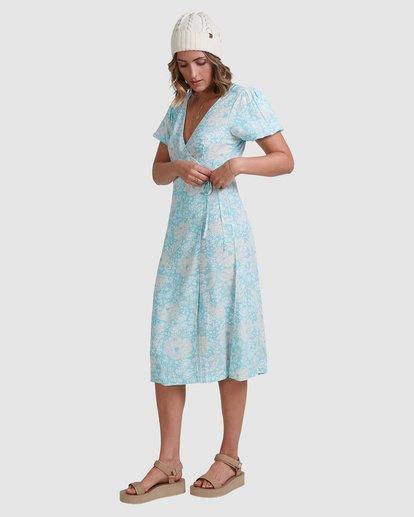 4 Blue Ray Midi Wrap Dress Blue 6517472 Billabong