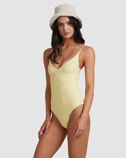 4 Tanlines Ava Bra One Piece Yellow 6517729 Billabong
