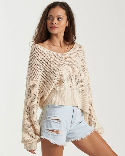 1 Feel The Breeze Sweater White 6517956 Billabong