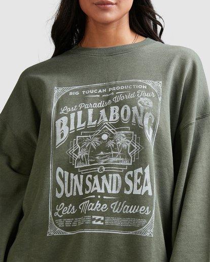 5 Sun Sand Sea Crew Green 6518217 Billabong