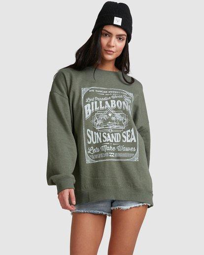1 Sun Sand Sea Crew Green 6518217 Billabong