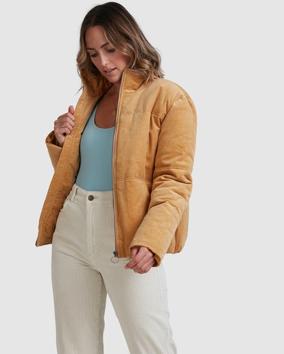 2 Desert Cord Puffer Jacket Brown 6518262 Billabong