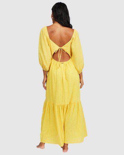 5 Dream Chaser Dress Yellow 6518489 Billabong