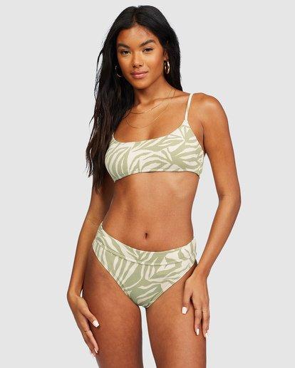 2 Jungle Town Skinny Mini Crop Bikini Top Green 6518759 Billabong