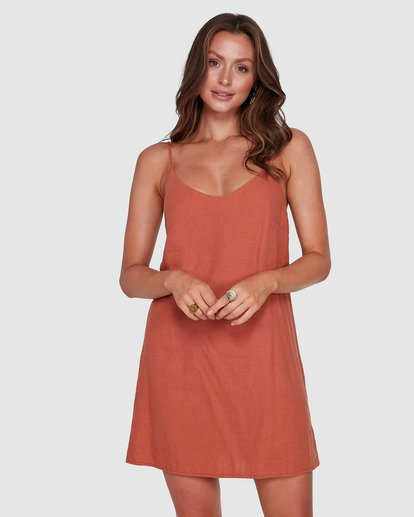 1 Summer Love Dress Brown 6572476 Billabong