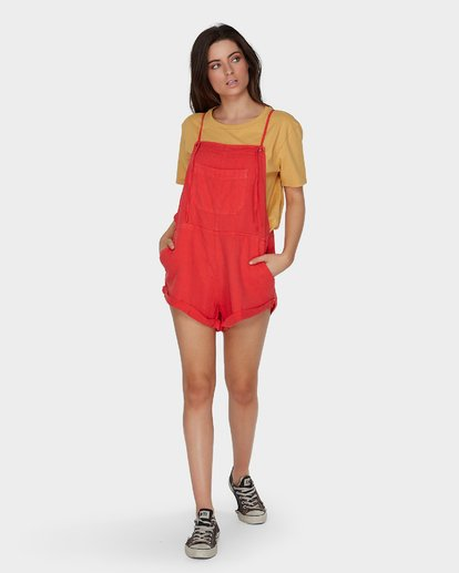 3 WILD PURSUIT OVERALLS Red 6572501 Billabong